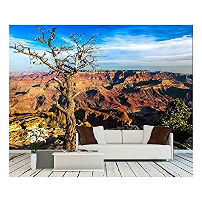 Elegant Expert Craftsmanship, Landscape View of Grand Canyon with Dry Tree in Foreground Arizona USA, Created Just For You