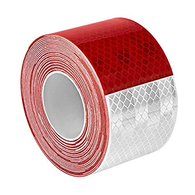 """3M 983-32 2"""" X 30FT 963-32 Prismatic Conspicuity Markings, 2"""" Wide, 30' Length, Red/White: Industrial & Scientific"""
