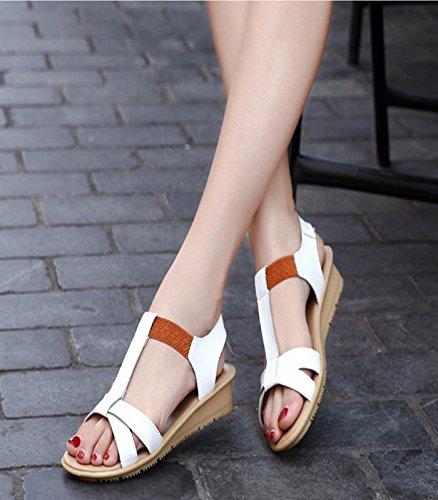 MZG Sommer Mode Einfache Sandalen Frau Komfort Fisch Mund Sandalen Süßigkeiten Farbe Schuhe 1