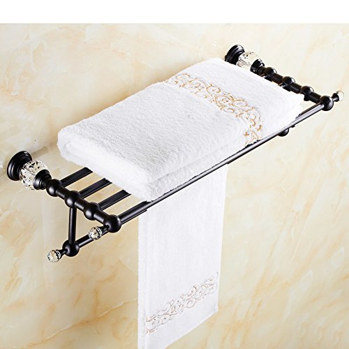 European-style black crystal bronze Towel rack/toilet/Bathroom storage rack/Antique copper towel rack full-L by QING gffed