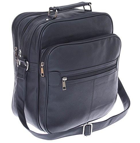 Piel de Imitación Bolso de hombro Messenger Bag Hombre Bolso de mujer Messenger Bag hombro bolsa