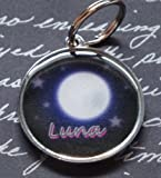 Stars and Moon Pet Tag – Luna, My Pet Supplies