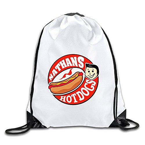 OOONG Fashion Men & Women Sackpack Delicious Nathan's Hot Dog Sport Bag Gym Bag