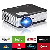 3500 Lumen Android Wireless LCD HD Home Cinema Projector Outdoor Movies, HDMIx2 USBx2 VGA 3.5mm AUX Audio Out 1280x800 Native Multimedia Projectors WiFi 1080P 720P Support Fire TV Stick DVD Blu-Ray