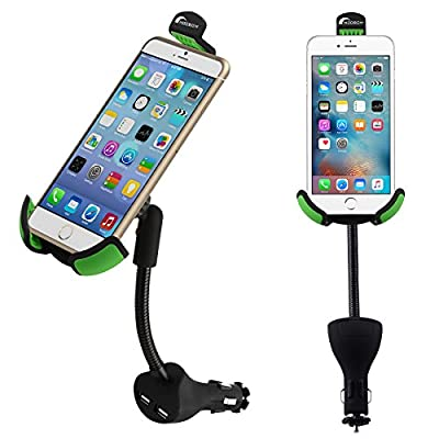 Moobom 4018936 Car Mount Cradle with Dual USB Charger Port from Moobom