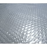 Blue Wave 18-Feet x 40-Feet Oval Solar Blanket for Above Ground Pools 12-mil, Clear