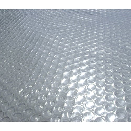 Blue Wave NS486 24-Feet Round Solar Blanket for Above Ground Pools 12-mil, Clear (Best Solar Pool Covers 2019)