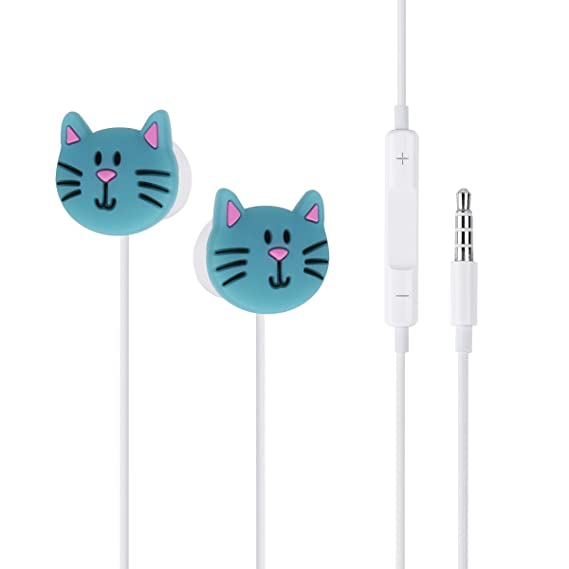8627c18d0e3 CHICTRY Cartoon Earphone 3D Cute Animal Earbuds Headphones in-Ear Style  Suitable to Remote and