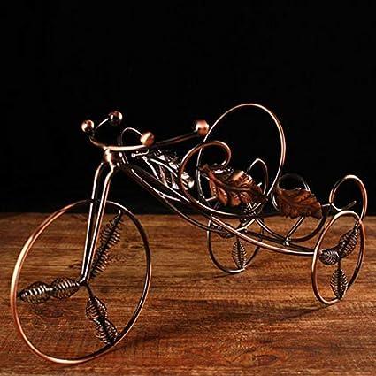 Abracing Rastrelliera per Vino Stand Vintage Triciclo Modello Ornamenti Decorazione per la Casa Soggiorno Tricycle Dorato
