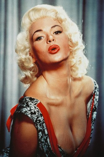 Jayne Mansfield Sexy Color Poster Busty