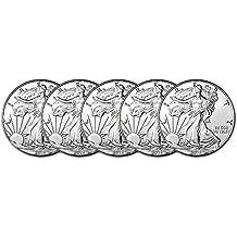 2018 American Silver Eagle (1 oz) Five Coins Brilliant Uncirculated