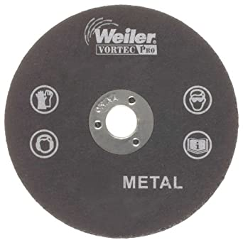 "Weiler 1/4"" Arbor, 1/8"" Thickness, 3"" Diameter, A36T Grit, Type 1 Small Cut-Off Wheel"