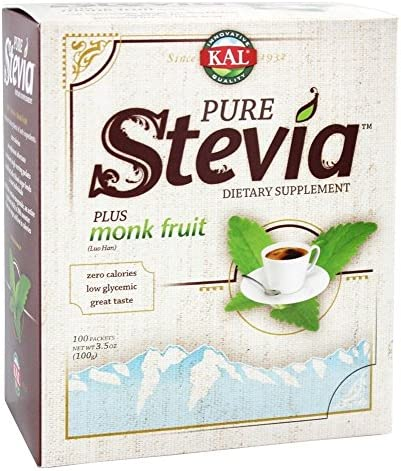 KAL – Pure Stevia Plus Luo Han, 100 g packets