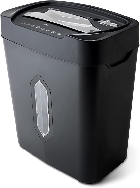 Aurora AU1230XA Anti-Jam 12-Sheet Crosscut Paper and Credit Card Shredder with 5.2-gallon Wastebasket