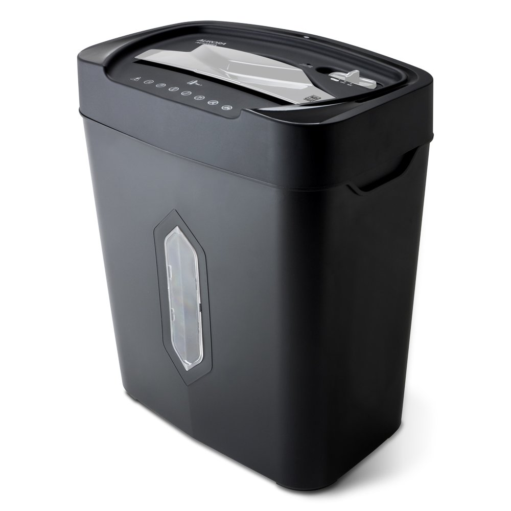 Aurora AU1230XA Anti-Jam 12-Sheet Crosscut Paper and Credit Card Shredder with 5.2-gallon Wastebasket by Aurora