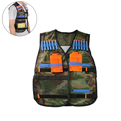 Airsoft Tactical Mask Firepower (Peiosendor Tactical Vest Kit for Nerf Guns N-Strike Elite Series - Tactical Vest for Kids - Nerf Gun Vest for Boys - Vest Jacket)