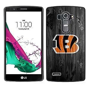 // PHONE CASE GIFT // Duro Estuche protector PC Cáscara Plástico Carcasa Funda Hard Protective Case for LG G4 / Cincinnati Bengal Football /