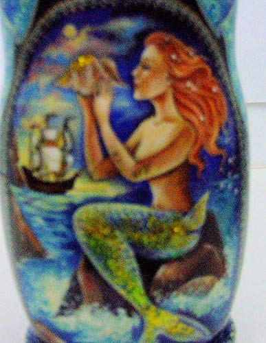 7pcs Hand Painted Russian Nesting Doll 'Mermaids by Ilyukova by Olga's Russian Collectibles (Image #3)