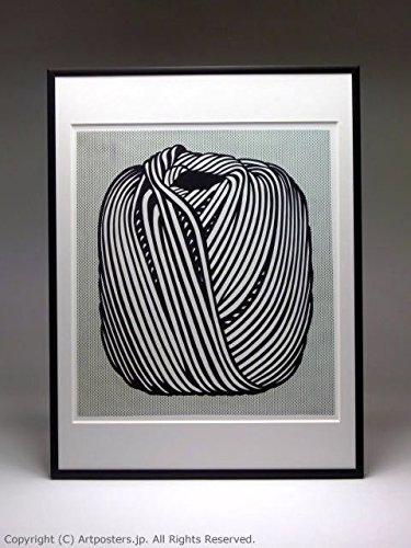 ロイ リキテンシュタイン 額付ポスターポップアート 額装品 ブラック B005LN2WFW ブラック ブラック