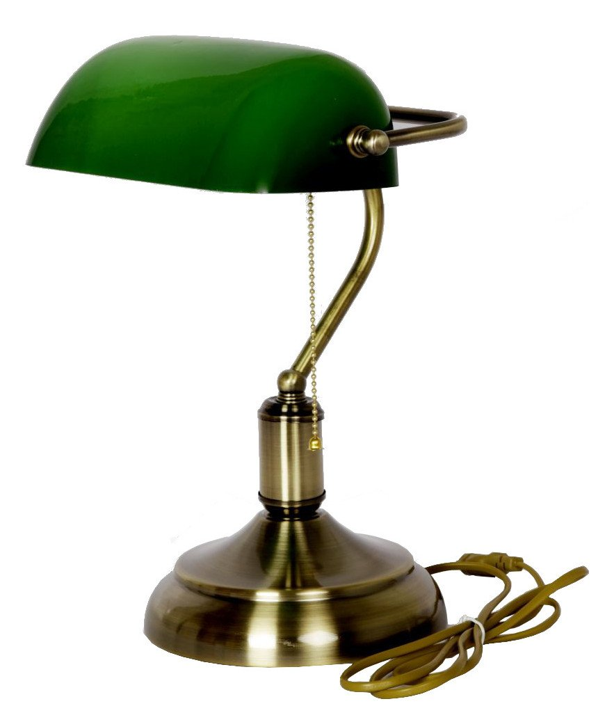 Buy table lamp bankers style green glass shade antique brass buy table lamp bankers style green glass shade antique brass finish online at low prices in india amazon geotapseo Image collections