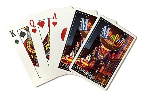 Memphis, Tennesseee - Beale Street (Playing Card Deck - 52 Card Poker Size with Jokers)