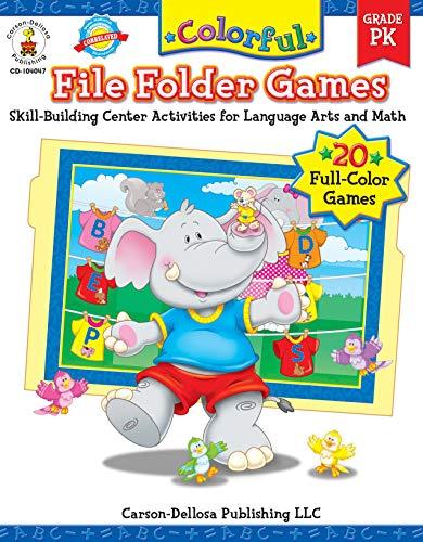 Carson-Dellosa Color File Folder Games Book - Pre-Kindergarten