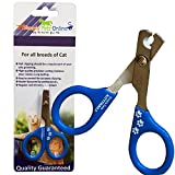 Cat Nail Clippers by KittyNails - Professional Cat Clippers Designed by 2 Veterinarians | Great Cat Claw Trimmer for Cats - Small Dogs - Birds - Rabbit - Guinea Pigs and Other Small Pets