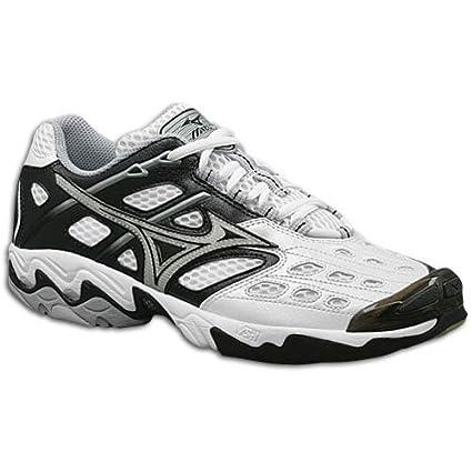 69130e3c15f16 Amazon.com: Mizuno Wave Lightning 3 Volleyball Shoe Womens - White ...