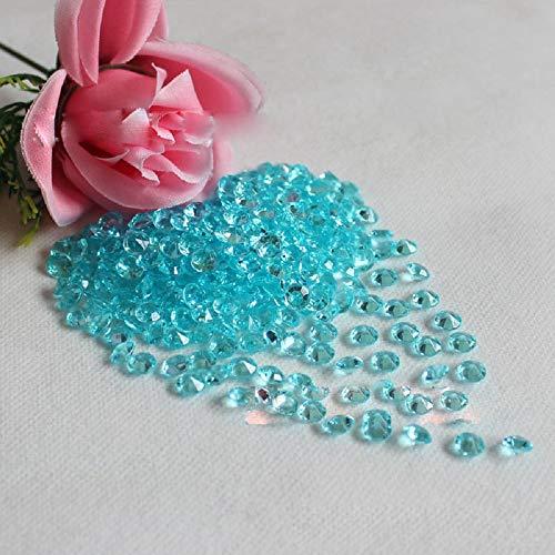 K9 Overcoat (1000 Pcs Clear Acrylic Crystal Bling Transparent Confetti Wedding Party Decoration Wedding Table Diamond High Clarity (Light Blue))