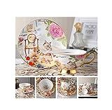 FAT BIG CAT Europe Noble Bone China Coffee Cup Saucer Spoon Set 200ml Luxury Ceramic Mug Top-Grade Porcelain Tea Cup Cafe Party Drinkware,Royal Pet