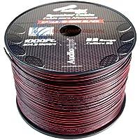 22 Gauge 1000 Feet Speaker Wire Audiopipe Red Black Zip Cable Copper 12 Volt