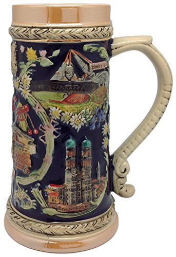 German Carnival Collectible Ceramic Beer Stein