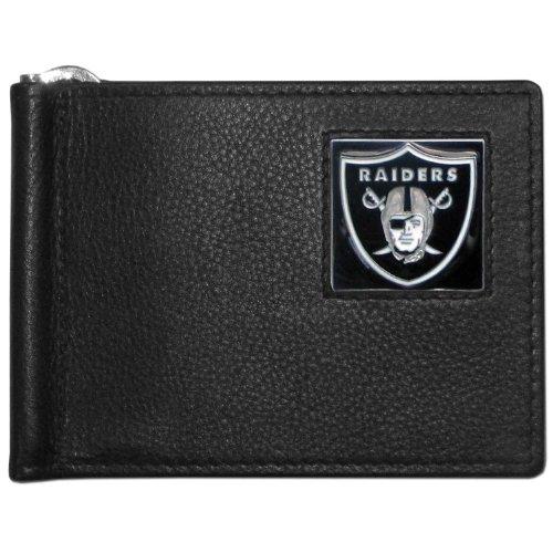 (NFL Oakland Raiders Leather Bill Clip Wallet )
