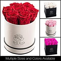 Real Roses, Real Beauty, Really lasts for 2 - 3 Years! Harvested from lush rose gardens in Ecuador, our roses are preserved using a non-toxic proprietary formula that ensures years of long lasting beauty. Elegantly presented and beautifully w...