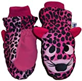 N'ice Caps Girls Thinsulate and Waterproof Tiger Face Ski Mitten