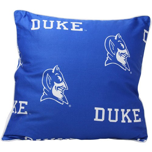 College Covers Duke Blue Devils Decorative Pillow, 16'' x 16'', Includes 2 Decorative Pillows