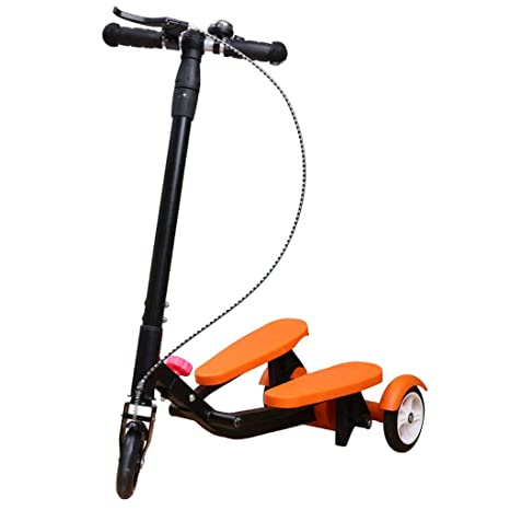 Amazon.com: Scooter Kids Pedaling Stepper Scooter Foldable 3 ...