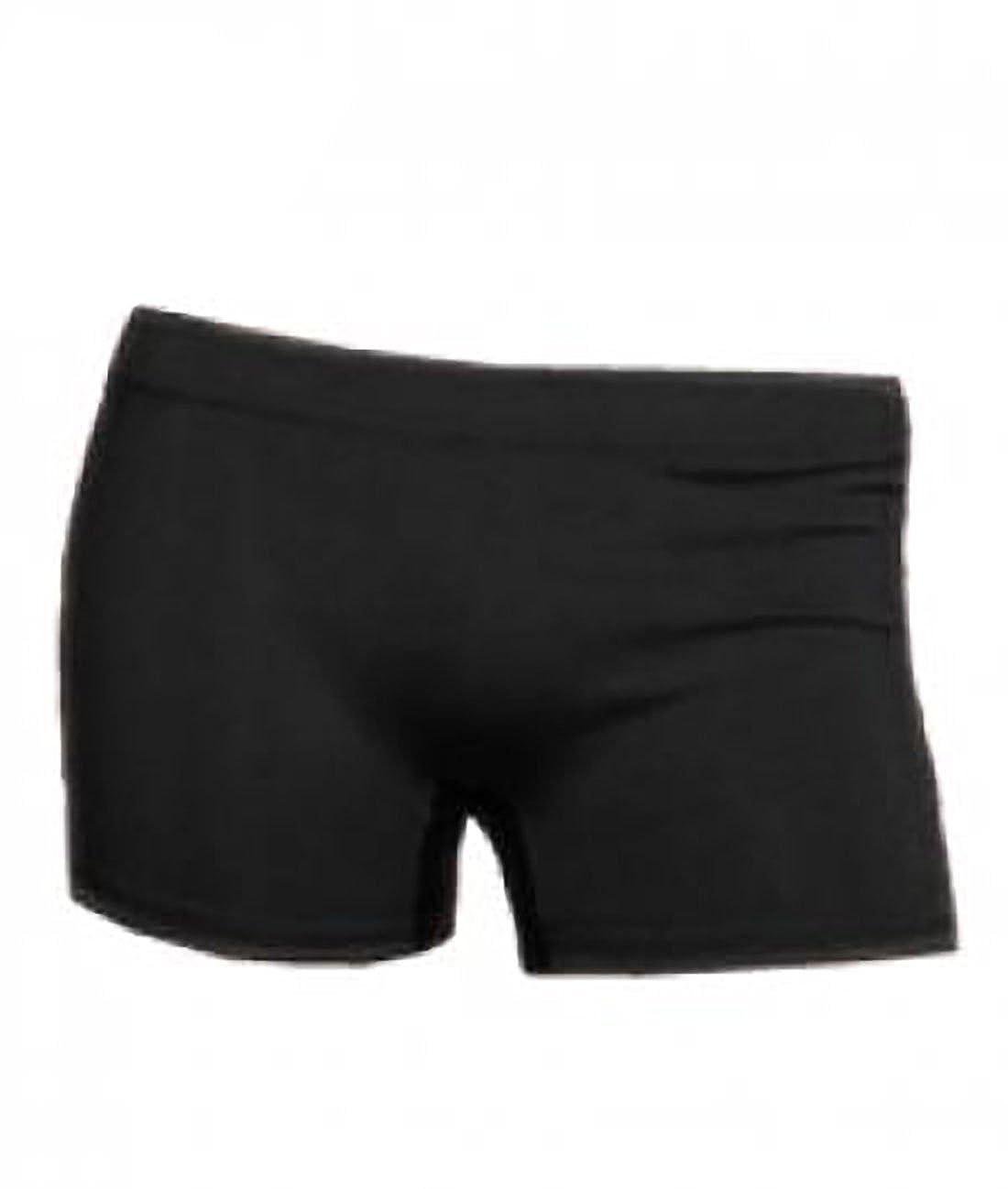 Bobo Banita Ladies UV Neon Lycra Shorts Hot Pants Dance Party Casual Club (Small/Medium 8-10, Black)