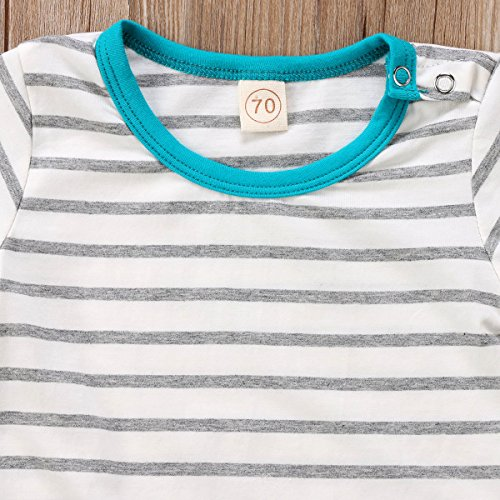 Newborn Baby Boys Girls Romper Clothes Infant Kids Short Sleeve Striped Organic Romper Jumpsuit Winter Outfits