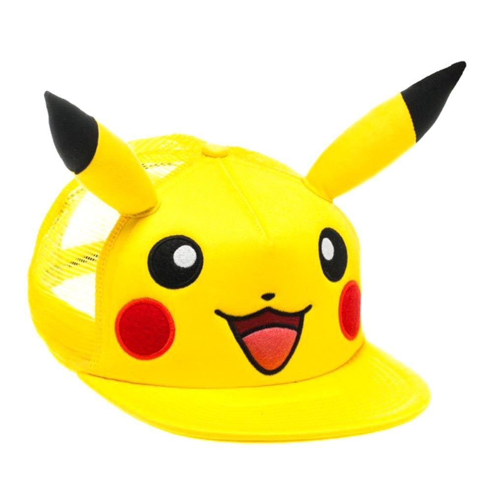 Amazon.com: Official Pokémon Pikachu Character Snapback Baseball Hat with 3D Ears - One Size: Clothing