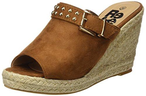 Refresh 063503, Zuecos para Mujer Hueso (Camel)