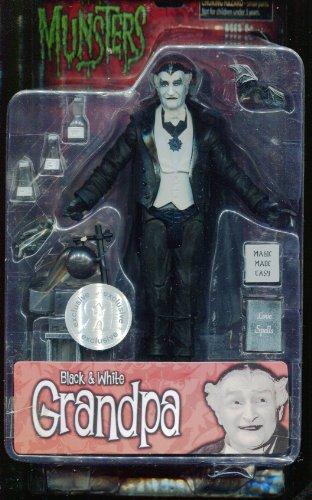 The Munsters ** Grandpa Action Figure ** Black & White Series (Grandpa Munsters)