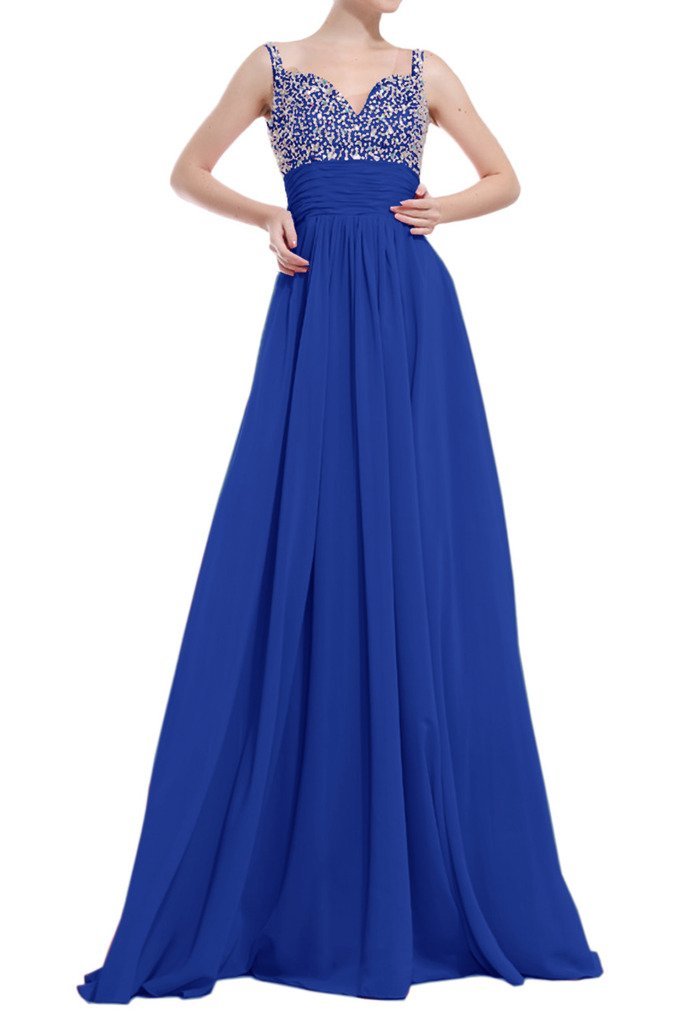 MILANO BRIDE Empire Evening Maternity Dress A-line Beading Sequins Floor-Length-26W-Royal Blue