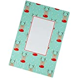 Poly Mailers 10x13 - Reindeer Christmas Holiday Shipping Envelopes – Writable Surface: No Labels Required – Pack of 100