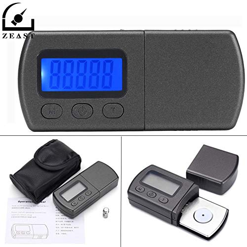 AMZVASO - 0.01gx5g Professional High Precision LCD Digital Turntable Stylus Force Scale Gauge High Precise Mini Jewellery For Pocket Scale