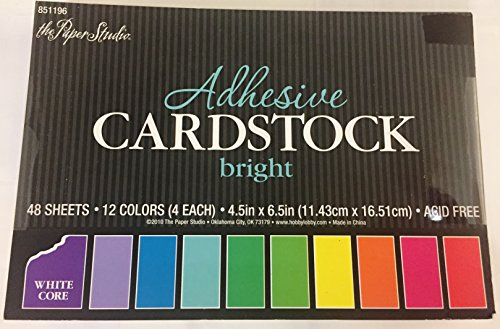 Bright Adhesive Cardstock ,48 sheets, 4.5 x 6.5 inches.