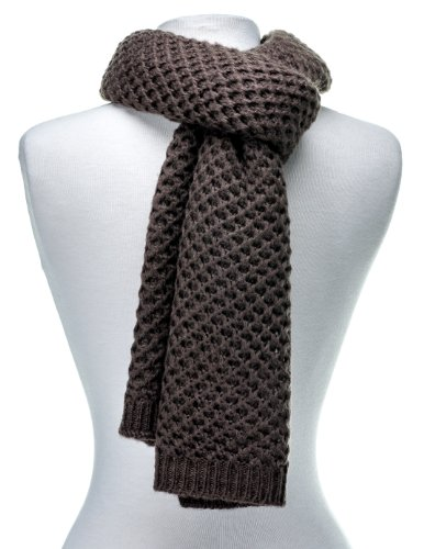 Noble Mount Mens Premium Weave Pattern Scarf - Taupe