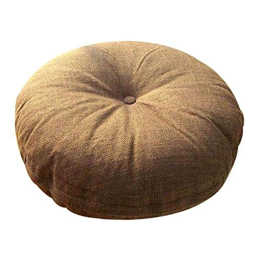Fandim Fly Japanese Style Linen Zafu Meditation Yoga Bolster Tatami Floor Round Cushion 15.7x4.7inch