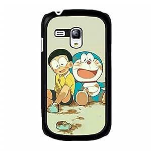 Samsung Galaxy S3 Mini Cover Case,Doraemon pokonyan Phone Case Personal Animation Design Best Premium Mobile Cover with Classic Doraemon pokonyan Pattern