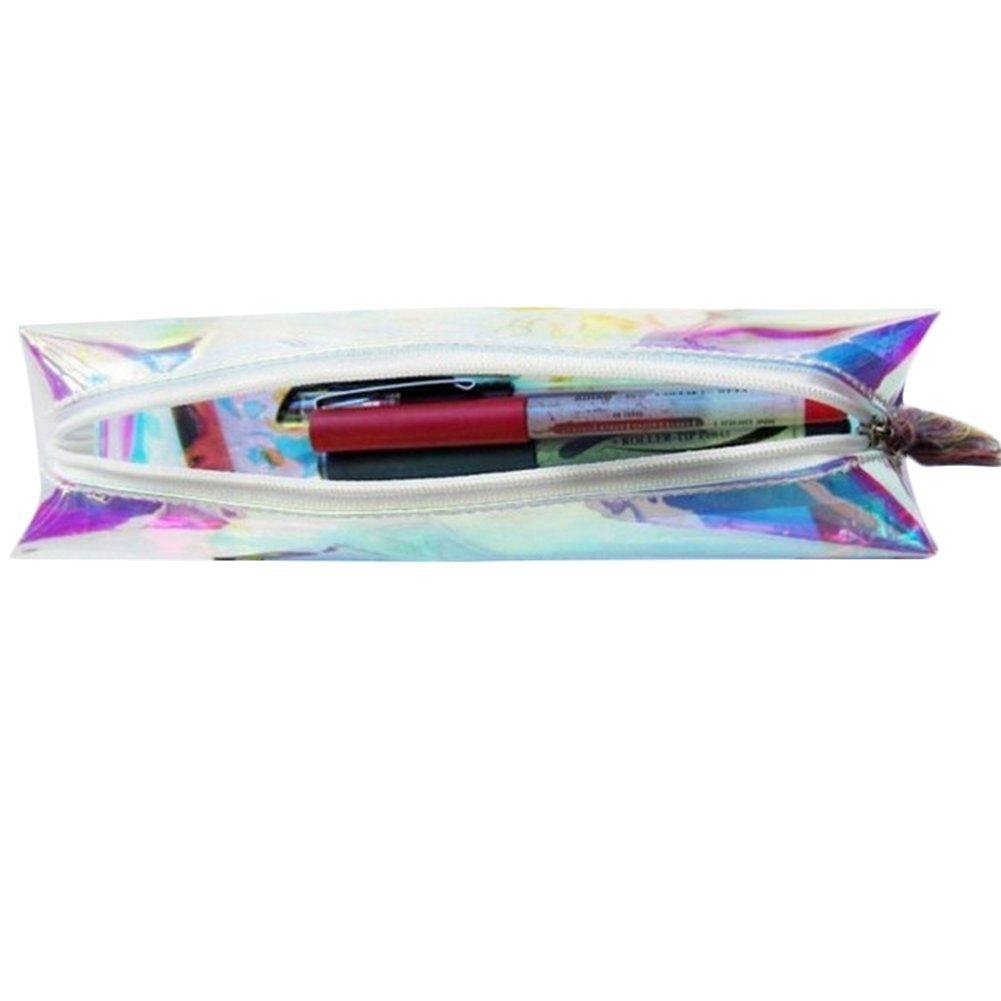 laser einhorn pen pen box pu tasche kaktus mäppchen handtasche